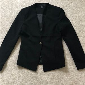 Black one button blazer small